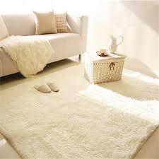 Living Room Carpets Rugs Shaggy Anti Skid Carpets Rugs Floor Mat Cover 80x120cm Creamy