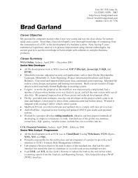 objectives for job resume