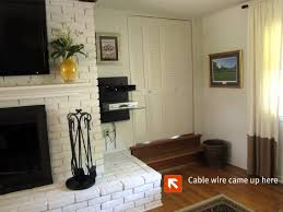 how to mount a tv on a brick fireplace updated for awesome how to hide cords on wall mounted tv above fireplace