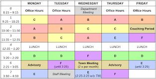 Student Schedule Excel Daily Schedule