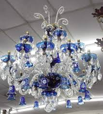 cobalt blue glass crystal chandelier colors and white inside plans 16