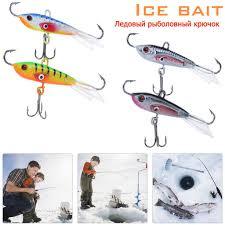 Ice Fishing Lure <b>1 Pcs Artificial</b> Hard Bait Winter Ice Balance Metal ...