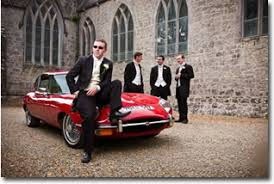 self drive wedding car hire in ireland by retroventures Wedding Cars Tralee self drive wedding car 1970 jaguar etype wedding cars tralee