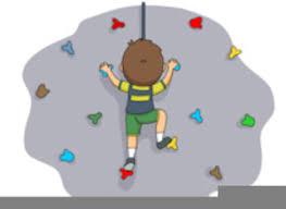 rock climbing wall clip art