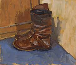 boots oil on paper 2016 9 9