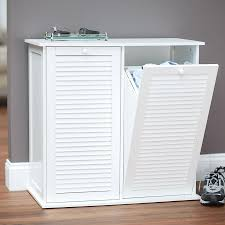 keeping laundry organized with tilt out laundry hamper — sierra