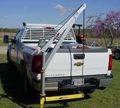Manual truck receiver hitch crane