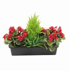 Artificial Window Artificial Geranium Window Box Fake Geranium Flower Box