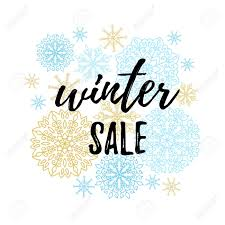 Calligraphy Backgrounds Winter Sale Label Banner Sticker Vector Winter Holidays Backgrounds
