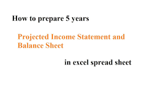 Projected Balance Sheet In Excel How To Prepare 5 Years Projected Income Statement And Balance Sheet In Excel Spread Sheet Samir