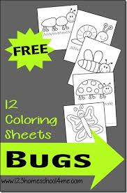 Small Picture FREE 12 Bug Coloring Sheets Perfect for toddlers preschoolers