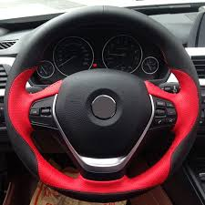 black leather red leather car steering wheel cover for bmw f30 320i 328i 320d f20 in steering covers from automobiles motorcycles on aliexpress com