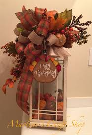 Thanksgiving Lantern swag/ fall lantern swag/ thanksgiving table decoration/  thanksgiving turkey lantern bow