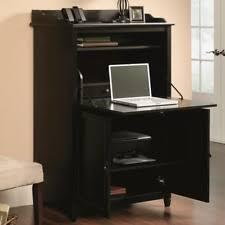 office desk armoire. Unique Desk Hidden Office Desk Small Computer Armoire Laptop Cabinet Workstation Brown  Black To