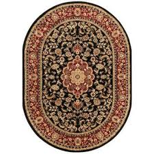 barclay medallion kashan black 7 ft x 10 ft oval area rug