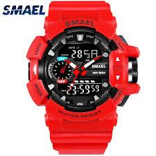 <b>SMAEL 1436 Men</b> Digital Watch Waterproof Watches Silicone Strap ...