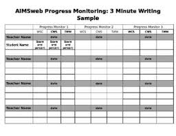 I Use This Chart To Keep Track Of Progress Monitoring Data