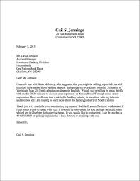 Example Letter To Request An Interview Best Informational Interview