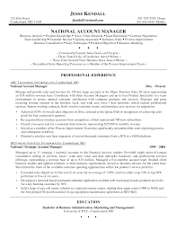 Sample Resume Account Manager Resume Template National Account