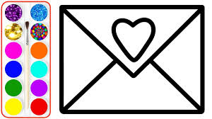 Drawing Pages Envelope Drawing Coloring For Kids Coloring Pages For Children
