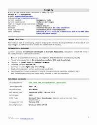 Java Resume Example Best of Resume Of A Java Developer New Sample Resume Java Developer 24 Years