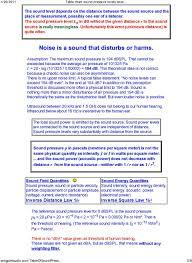 Decibel Table Loudness Comparison Chart Pdf Free Download