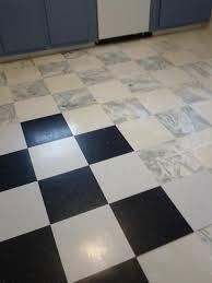black and white tile floor. Chic Vct Tile In White And Black For Interesting Flooring Ideas Floor
