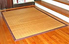 large bamboo floor mat rugs black rug smart home ideas matting