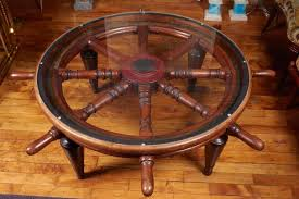 Victorian Era Ship's Wheel Coffee Table