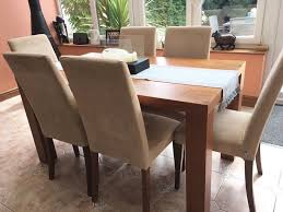 bo concept walnut veneer dining table