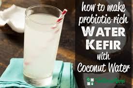 kefir milk. how to make probiotic rich water kefir with cocnout milk