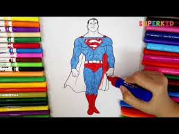 Coloring pages for kids ► please like comment subscribe to my channel to see more interesting videos ! Superman Coloring Pages Giant Superman Coloring Book For Kids Youtube