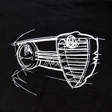 alfa romeo logo black and white. grill silhouette alfa romeo giulia super 1970 mens tshirt black amazoncouk clothing logo and white