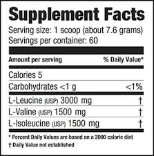 Резултат слика за ultimate nutrition bcaa powder 12000 supplement facts