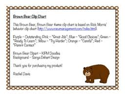 Davis Clip Chart Brown Bear Clip Chart