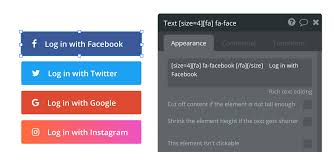 facebook icon size resolved facebook login button element need help bubble forum