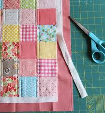 """Binding a quilt with the quilt back 