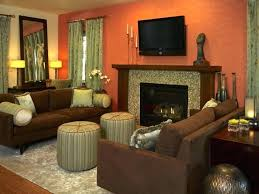 Burnt Orange And Brown Living Room Concept Simple Decoration