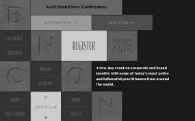 Brand New Design Conference Brand New Conference 2018 Siteinspire