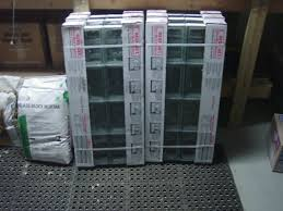 redi2set preassembled glass block window panels and glass block mortar for installing them