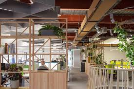 Open plan office design birmingham Studio Autex Acoustic Baffles In Open Plan Office Resonics Projects Engineering Company Birmingham Resonics