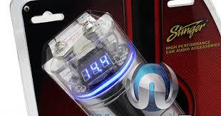 capacitors spc122 stinger cap 1 farad chrome display car audio capacitors spc122 stinger cap 1 farad chrome display car audio amplifier capacitor new buy it now only 89 9 capacitors cars audio and