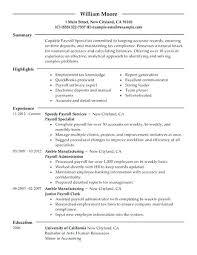 Example Of Finance Resume Resume Web