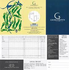 ontario scorecards cognizant golf 1999
