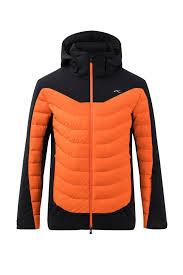 Ski Jacket Kjus Men Sight Line Jacket Black Orange