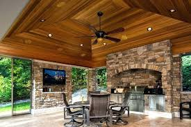 outdoor porch fireplace screened patio room in with