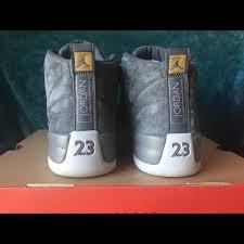 Mens Jordan Retro 12 Wolf Grey Suede