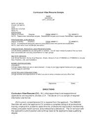 Resume Format For First Job