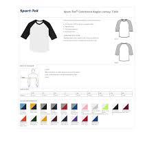 Sport Tek T200 Mens Colorblock Raglan Jersey White Royal Xl