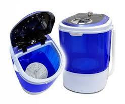haier 1 0 cubic foot portable washing machine hlp21n. quite small and portable as well, this bonus panda washing machine has a very lovely design with the see-through blue wall. it is one of haier 1 0 cubic foot hlp21n